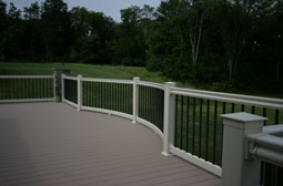 deck posts and railings at Leisure World