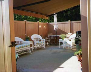 privacy fences at Leisure World