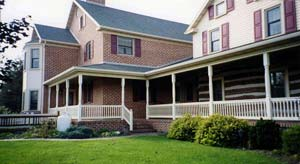 porch posts and railings at Leisure World