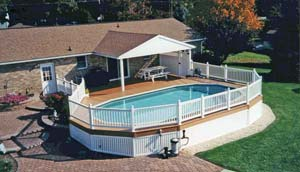 above ground pools at Leisure World