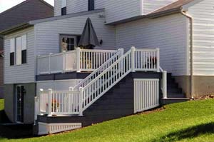 deck, stairs, posts and railings at Leisure World